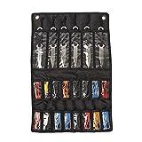Hanshi - Estuche de almacenamiento para cuchillos tácticos, bolsa de almacenamiento plegable para cuchillos, bolsa pequeña para cuchillos con 22 ranuras
