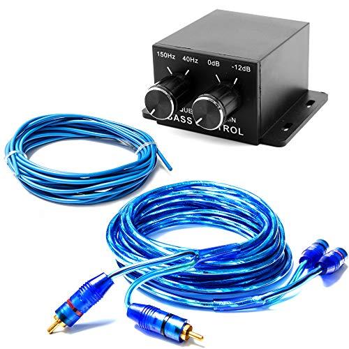 Subwoofer Weiche Lautstärkeregler Bassregler mit 5m Cinch-Kabel