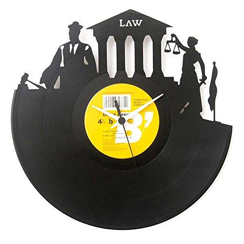 Orologio in Vinile Regalo Avvocato Laurea giurisprudenza Idea Regalo Colore Nero Vinyluse Originale