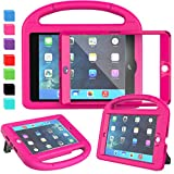 AVAWO Kids Case for iPad Mini 1 2 3 - Built-in Screen Protector Light Weight Shock Proof Handle Stand Kids Cover for iPad Mini 1st Gen, iPad Mini 2nd Gen, iPad Mini 3rd Generation - Rose