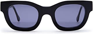 Leqarant Women's F01015NERO Black Other Materials Sunglasses