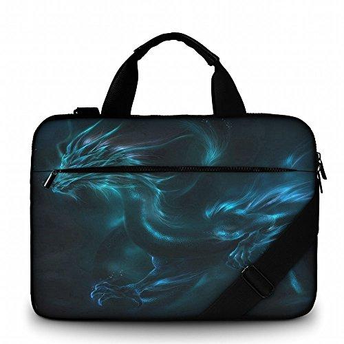Silent Monsters borsa per portatile 17,3 pollici in tela con tasca per accessori, Design: dragon