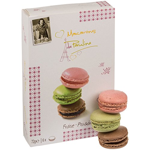 Macarons de Pauline Macarons Mix Erdbeere, Pistazie und Schokolade