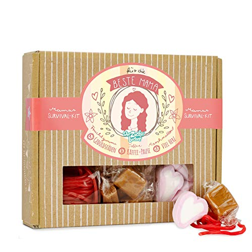 Mamas Survival Kit - Geschenk-Box mit tollem Süßigkeiten-Mix für die beste Mama zum Mutter-Tag