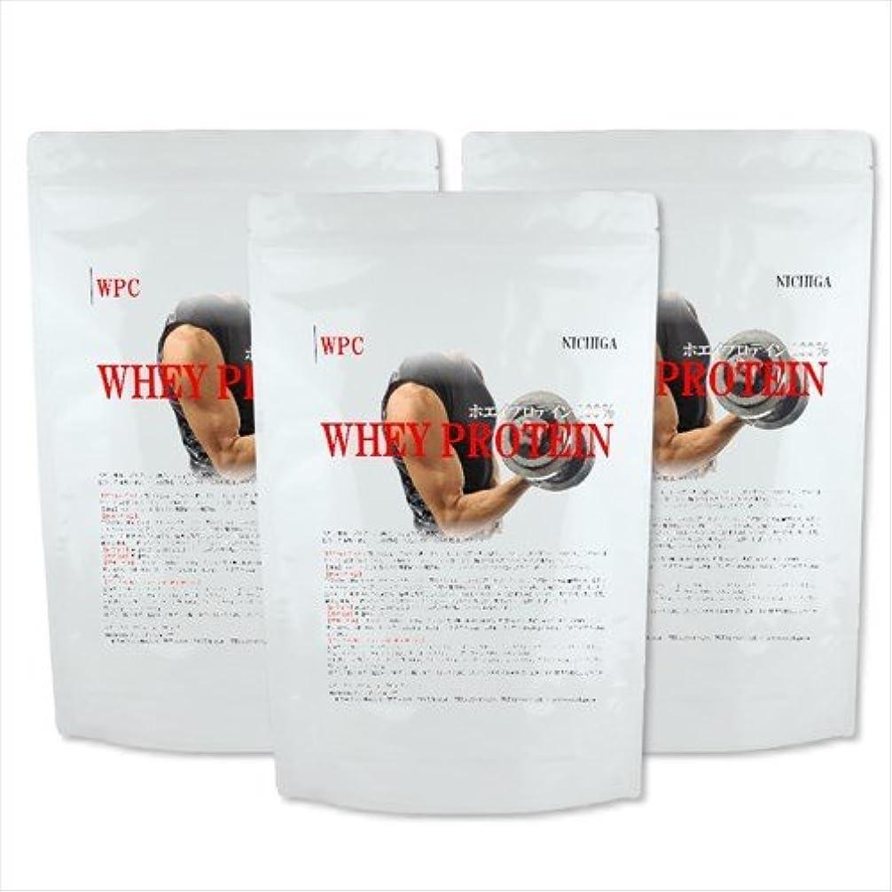 舌資本主義面積ホエイプロテイン1kg×3袋 WPC 吸収の良いハイスペックプロテイン 【プレーンタイプ】[02] NICHIGA(ニチガ)