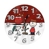 スヌーピー 時計 目覚まし時計 おしゃれ 壁掛け時計 部屋 北欧 連続秒針 静音 インテリア 掛時計 玄関
