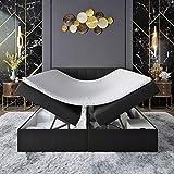 INNOCENT® S4 - Cama con somier con canapé (160 x 200 cm, poliuretano 3D Air de 6 cm, colchón de muelles, dureza H2, cama de boxeo para hoteles)