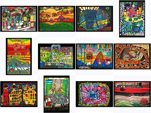 Kunstkarten-Topseller-Set Friedensreich Hundertwasser
