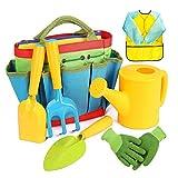 DRAKE18 Set de jardinería para niños, 7PCS Set de Cultivo y siembra con Guantes, Delantal, Bolsa de Almacenamiento y Herramientas de plantación, para niños niños niñas