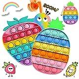 Pōp it Fidget Toys Pack, Juguetes Antiestres Sensoriales Tablero de ajedrez arcoíris Educativo para Aliviar El Estrés, Regalos para niños Adecuado para Autismo Necesidades