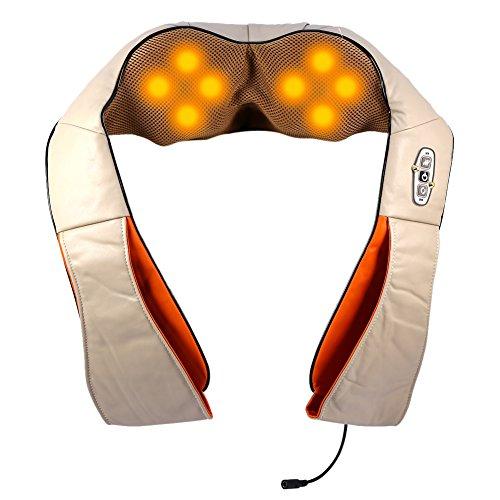 Masajeador de cuello de múltiples funciones, masaje y relax. Masajeador de amasamiento 4D para aliviar…