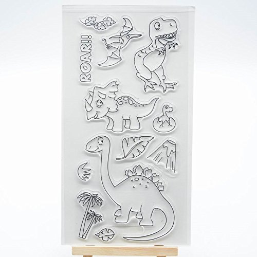 Welcome to Joyful Home 1pc Dinosaur Clear Stamp for Card Making Decoration and Scrapbooking