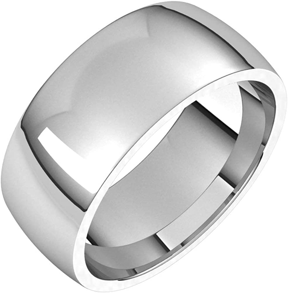 14k White Gold Max 79% OFF 8mm free Lightweight Comfort Bridal R Wedding Fit Band