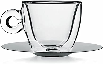 Preisvergleich für Luigi Bormioli Thermic Glass Packung Tee- oder Cappuccinotassen mit Borosilikat-Teller, Glas, Transparent, 2 Stück