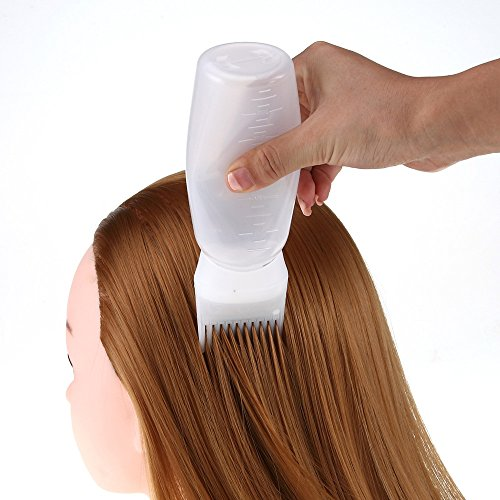 Price comparison product image Hot Hair Dye Bottle Applicator Brush Dispensing Salon Hair Coloring Dyeing Cream Soft Bottle Perfect Tools for Hair Tint Dying Coloring Applicator