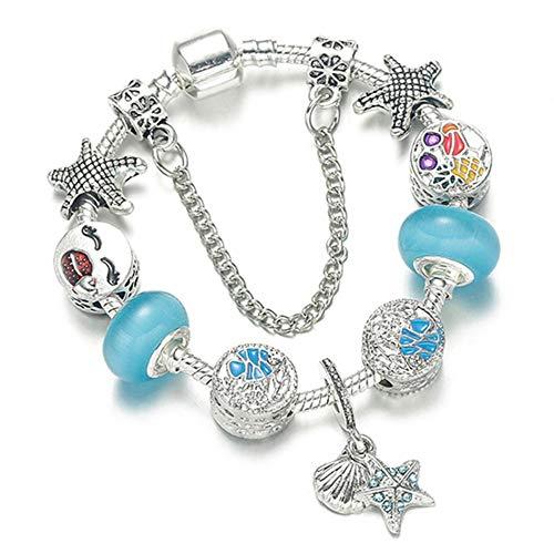 JJDSL Armband, Klassieke Regenboog Hanger Bedel Armband Met Glas Kralen Armbanden Voor Vrouwen Originele Diy Sieraden Voor Vrouwen Geschenken Bangle
