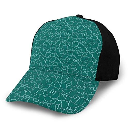 FULIYA Gorro de béisbol unisex de algodón de perfil bajo lavado en blanco con diseño expresionista moderno en varios tamaños