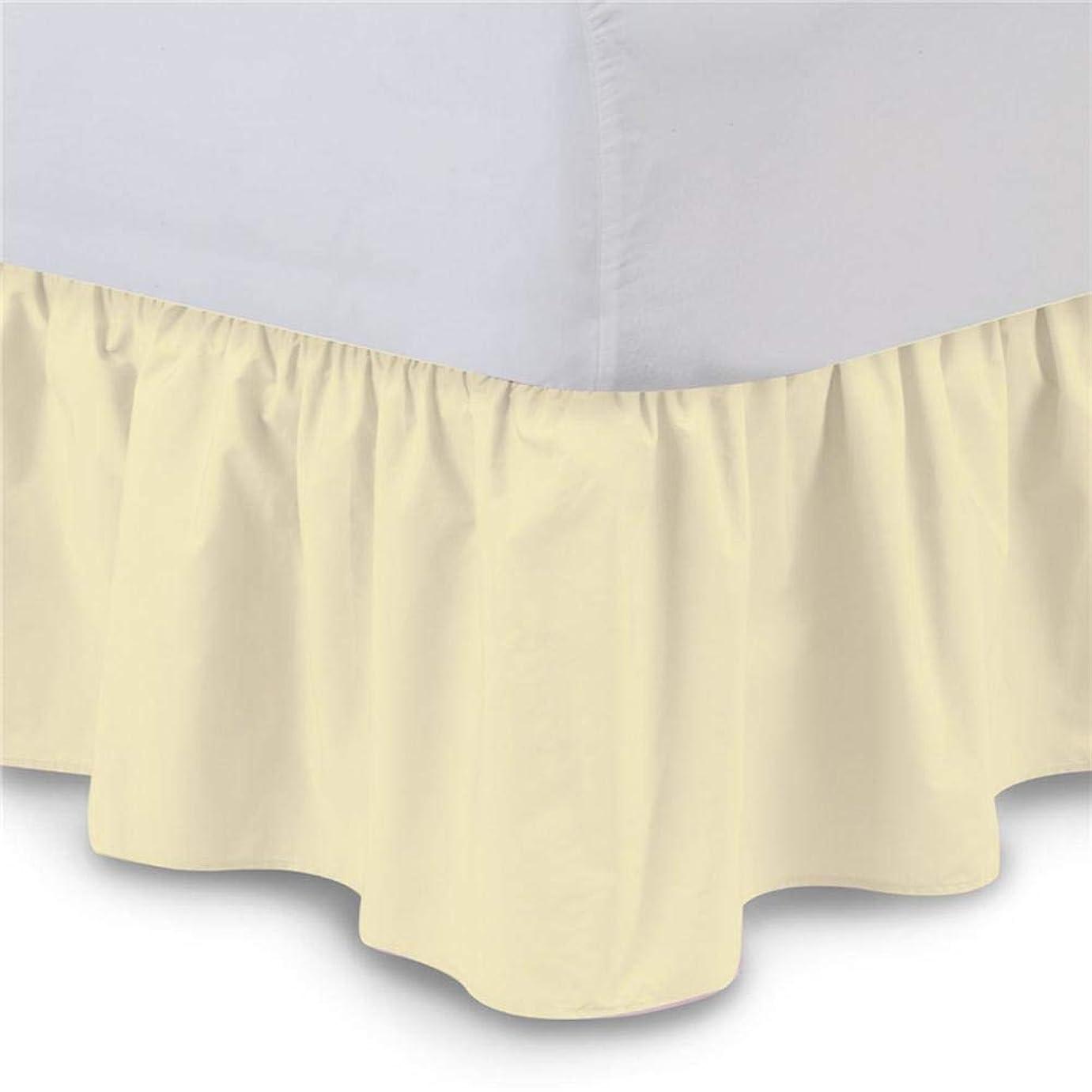 儀式志す器具ベッドスカート シングル 伸縮ベッド 無地 ゴムバンド ホテル 取り外しや洗浄が簡単 150 x 200 + 38cm/200 x 200 + 38cm