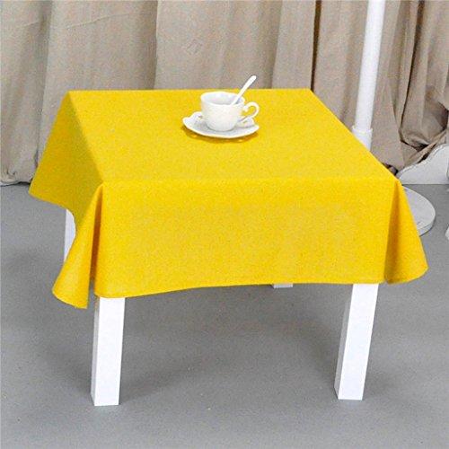 Nappes Nappe Carrée en Tissu de Coton Solide Couleur Table de Cuisine Balcon Salon Nappe d'Hôtel (Couleur : B, taille : Square-120 * 120)