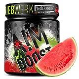AIM BOOST | Watermelon | Performance Booster | 400g | 40 Portionen | 23 Wirkstoffe | 247mg Koffein + Tyrosin +Theanin | 8 Vitamine | wenig Zucker |