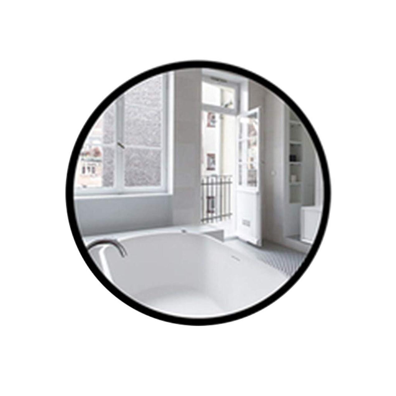 再生動脈走るTYJ-JP 鏡浴室用鏡ガラス鏡円形鏡 HD化粧鏡北欧風鏡浴室壁鏡パンチフリーガラス鏡 (Color : Black, Size : 50*50cm)