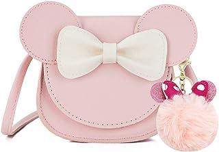 JUMISEE Little Girls - Bolso bandolera con diseño de ratón con pompones