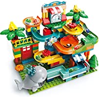 REMOKING Marble Run Building Blocks,259PCS Puzzle Race Track,Construction Building Blocks Toys,STEM Learning Toy, Kids...