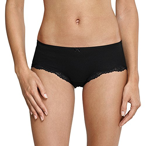 Schiesser Damen Bikini Hipster Bikinislip, Schwarz (Schwarz 000), 38