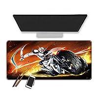マウスパッド アニメ仮面ライダーマウスパッド滑り止めラバーベース耐久性のあるステッチエッジ滑らかな表面耐摩耗性の厚いマウスパッド防水マウスマットイージーケアゲーミングキーボードマット-300X700X3Mm