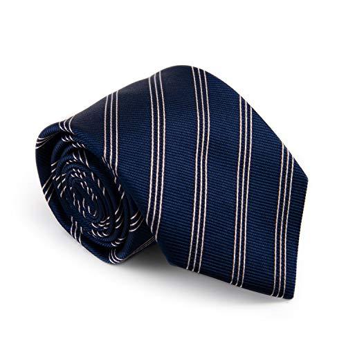 """GENTSY ® 100% Seta Cravatte da Uomo Cucita a Mano Larghezza 8cm / 3.15"""" Classico Design (K108 blu)"""