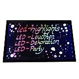 LED-Highlights Werbetafel Led Reklame Tafel 60 x 40 cm Fernbedienung 7 Led Farben Leuchttafel Led...