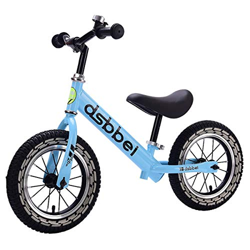 Balance Bike 2~6 Anni, Bici Senza Pedali per Ragazzi E Ragazze da 12 Pollici, Bici per Bambini Leggera, Bici da Passeggio Regolabile in Altezza