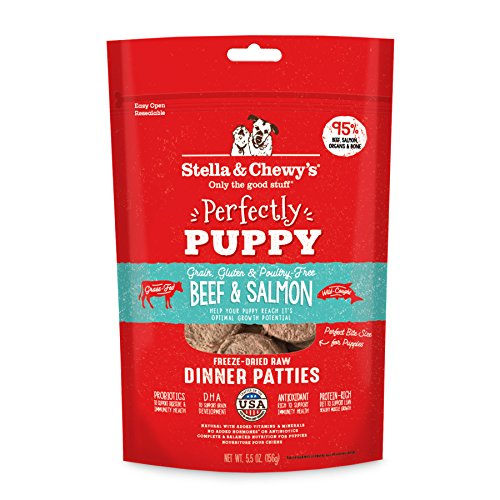 Stella and Chewy's Freeze-Dried Raw Beef and Salmon Patties for Puppies 5.5oz