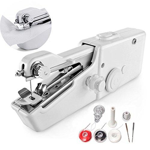 Mimiga Elektrische draagbare naaimachine voor het naaien van leer en jeans, met accessoires, voor hoofdreis