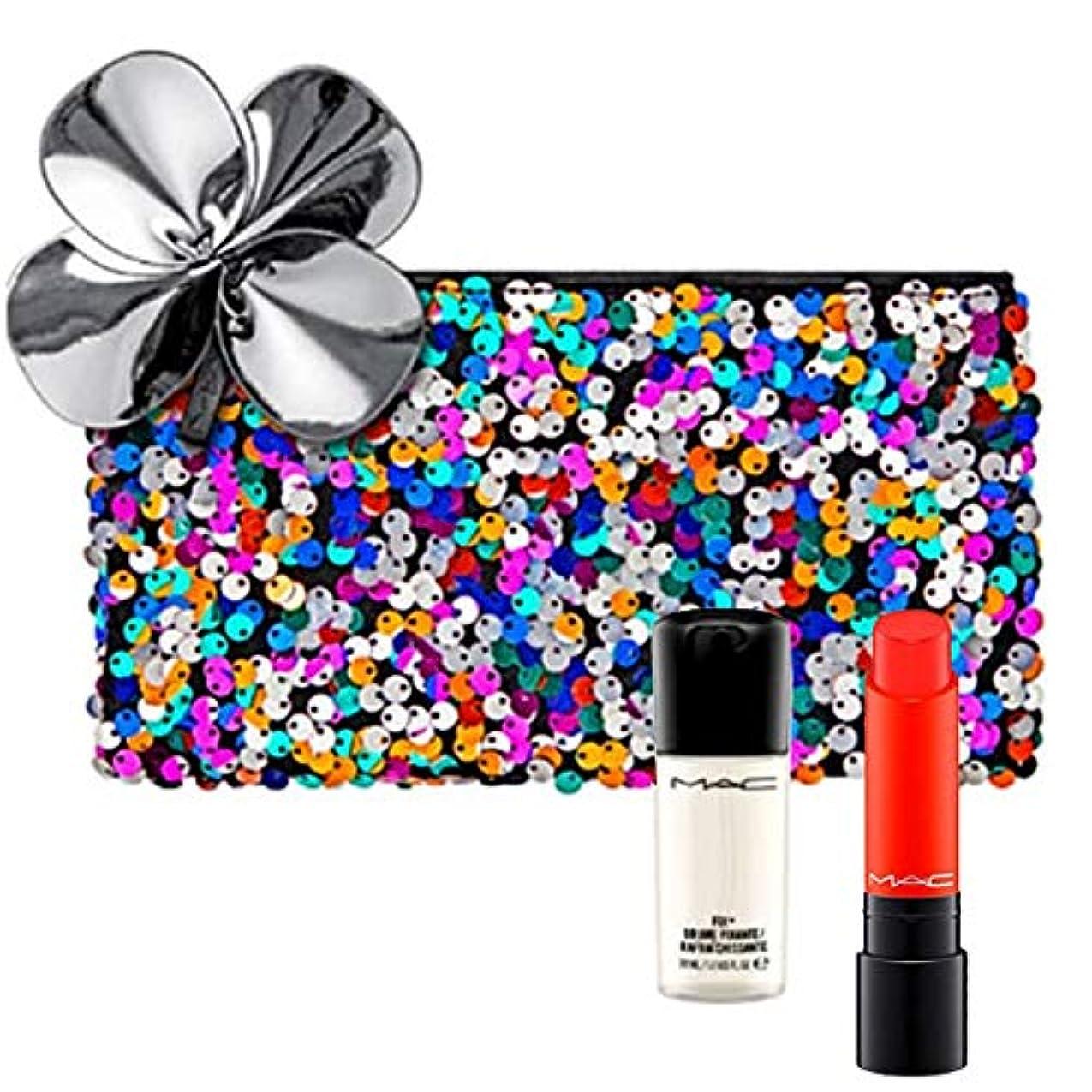 トレイ現象たくさんM.A.C ?マック, Sequin Bag + Lipstick (Habanero) + Mini Setting Spray(30ml) [海外直送品] [並行輸入品]