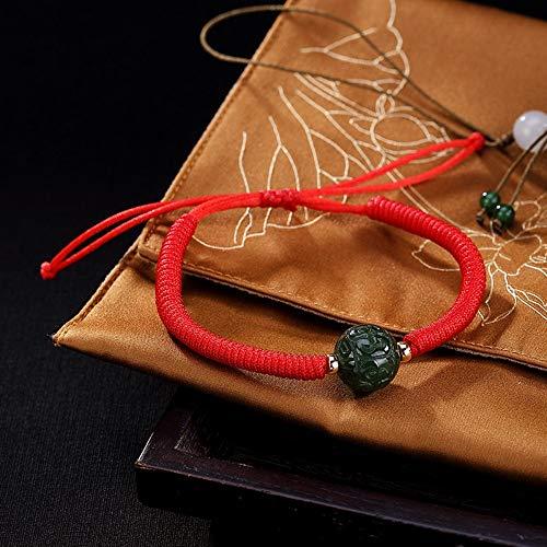 THTHT Vintage dames armband S925 sterling zilver jaspis ronde rode touw armband creatief temperament persoonlijkheid geschenken nationale wind sieraden