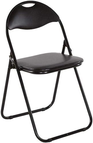 moda clasica Folding chair Silla Plegable - Silla Plegable Plegable Plegable para Invitados, Silla tapizada en plástico negro, negro  envío gratuito a nivel mundial