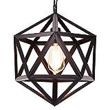 XuanYue Lampada a Sospensione Retrò Industriale Vintage Lampadario in Ferro Battuto Hexagram Lampada da Soffitto in Metallo