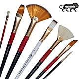 KAMAL Artist Quality Mix Brush Set for Acrylic Painting, Oil Painting, Modern Art