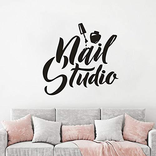 Geiqianjiumai Vinyl muursticker studio nagellak manicure pedicure muur vinyl kunst muurschildering salon muur