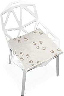 TSWEETHOME Comfort Memory Foam Square Chair Cushion Seat Cushion with Animal Dog Cat Rooster Paw Prints Chair Pads for Floors Dining Office Chairs