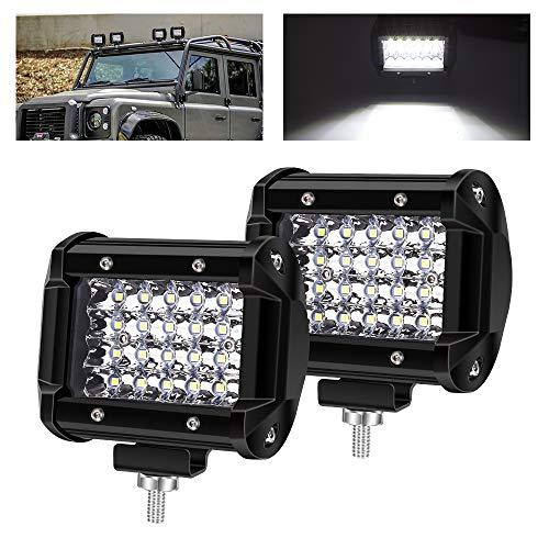 """72W Faretti LED Off Road,4\"""" Faro da Lavoro 12V 24V Fari Led Auto Barra LED Fuoristrada Impermeabile IP67 per Off Road Moto 4WD SUV ATV UTV"""