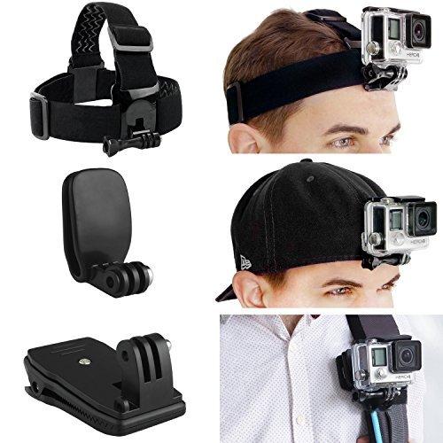 CamKix Halterung Pack für Kopf und Rucksack - Kompatibel mit Allen GoPro Hero