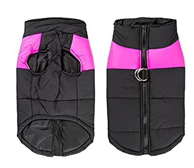 Shinmax Dog Coat, Winter Jacket, Waterproof Warm Raincoat, Small Medium Large Fleece Lined Chest Protection, Dog Puppy Clothing Vest for Autumn Winter