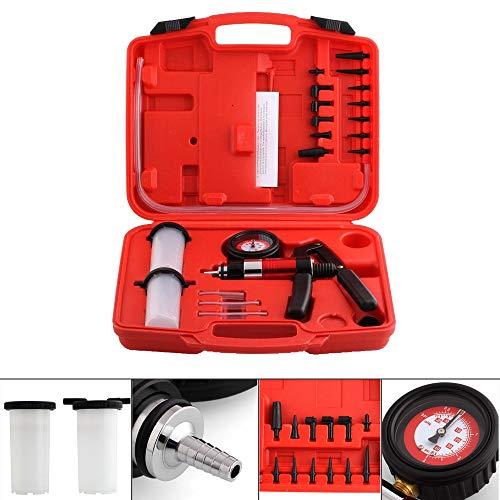 BMOT Vakuum Pumpe Vakuumtester Druckpumpe Bremsflüssigkeit für Motorrad Tester,Bremsenentlüftungsgerät Druckpruft Mit Tragetasche