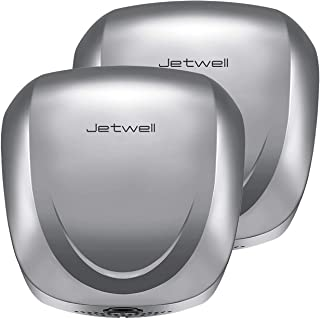 JETWELL 2Pack UL Listed High Speed Commercial Automatic Eco Hand Dryer with HEPA Filter-Heavy Duty Stainless Steel-Warm Wi...