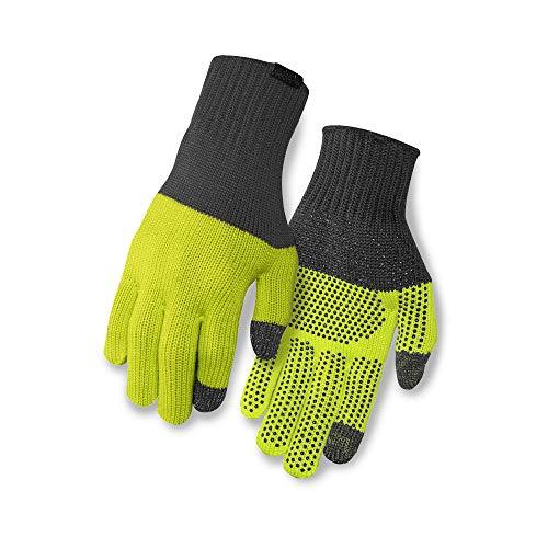 Giro Unisex– Erwachsene Wi Merino Knit Wool Fahrradhandschuhe, Grey/wild Lime, S/M