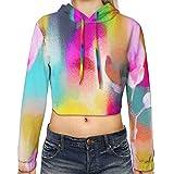 Hadley Hutton Spring Women's Sports Long Sleeve Crop Hoodie Sweatshirt Top Pullover Hooded Sweatshirt