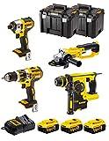 DeWALT Kit 4 utensili 18V XR DCK484P3T - (3 batterie x 5,0Ah Li-Ion)