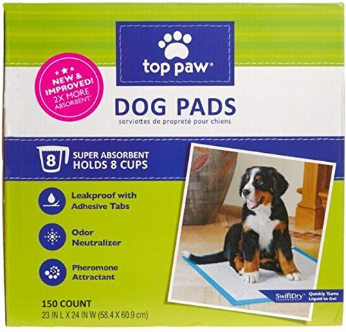 Top Paw 5277052 Dog Pads, 150 Count (Pack of Two)